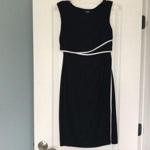 Chaps black sleeveless dress